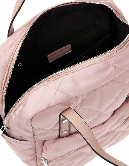 Emmy Vegan Quilted Backpack, Nude (NUDE), large