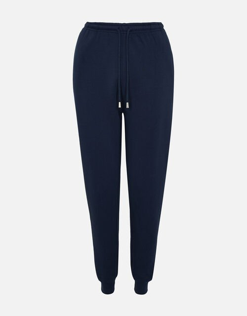 Lounge Joggers in Organic Cotton , Blue (NAVY), large