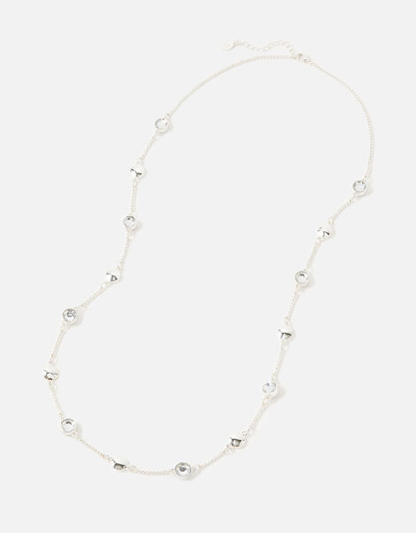 Berry Blush Gem Station Necklace White, White (CRYSTAL), large