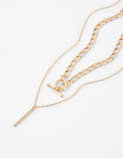 T-Bar Chain Necklace Set, , large