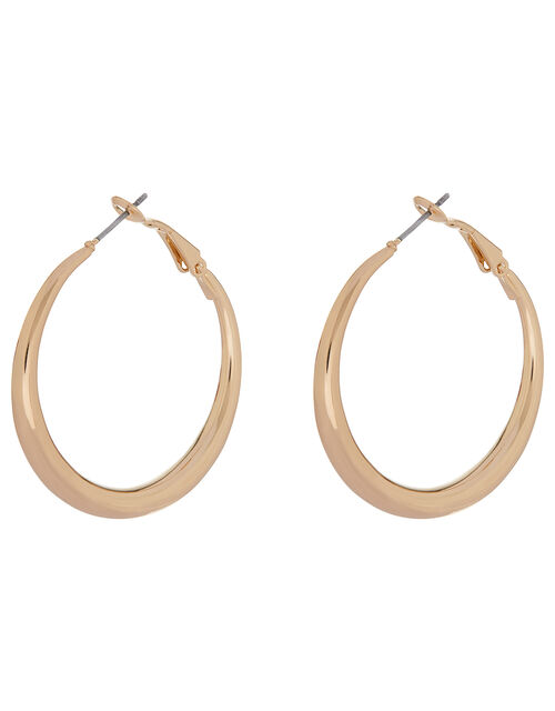 Medium Round Hoop Earrings, , large