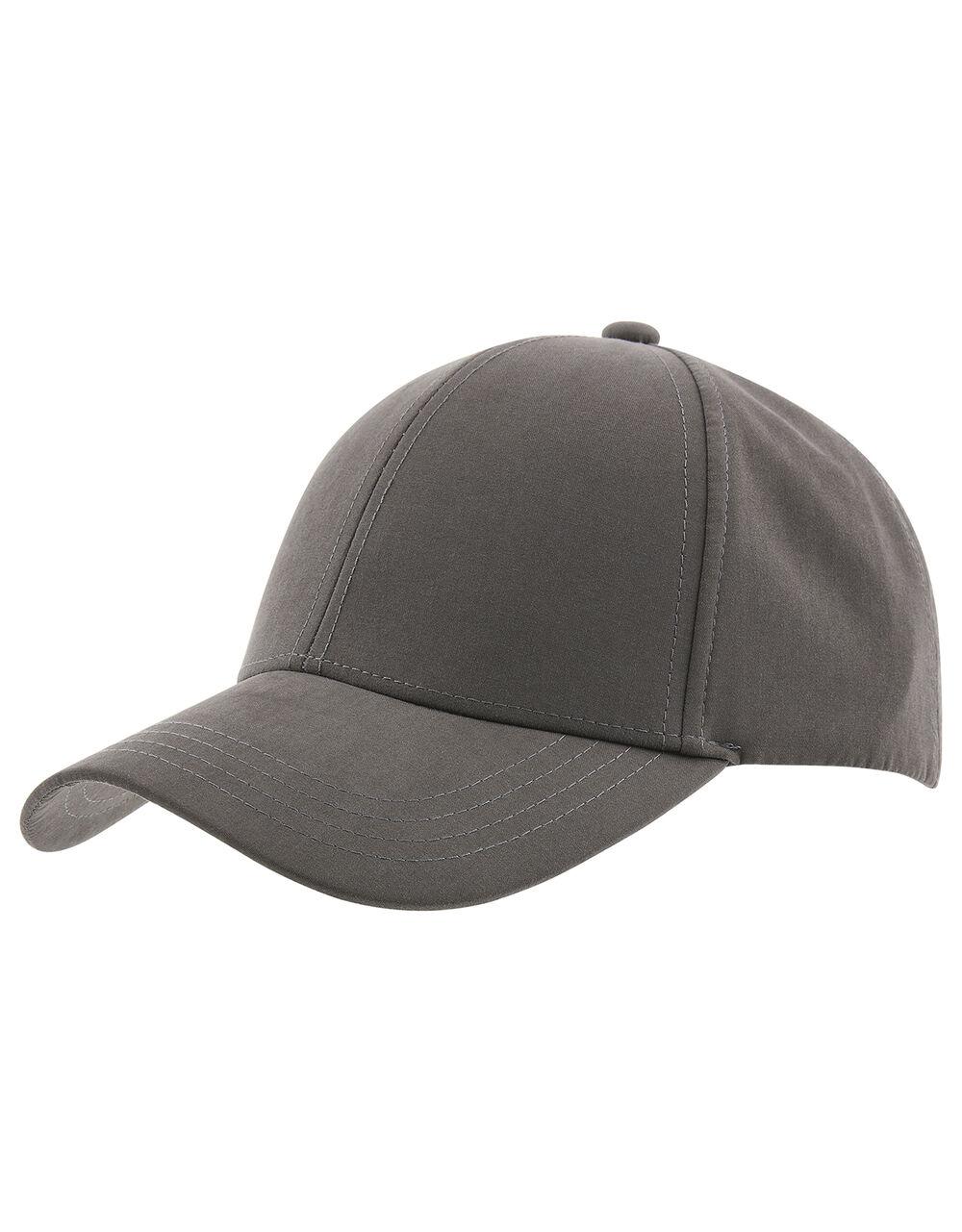 Jamie Plain Baseball Cap, Grey (GREY), large