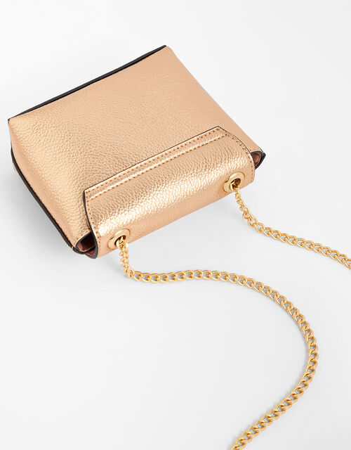 Mini Metallic Bag, Gold (ROSE GOLD), large