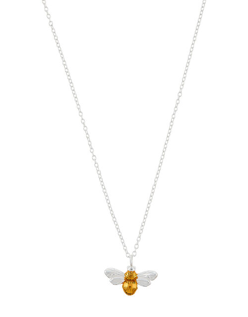 Bee Pendant Necklace, , large