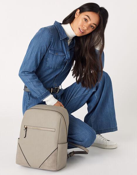 Judy Vegan Backpack Grey, Grey (GREY), large