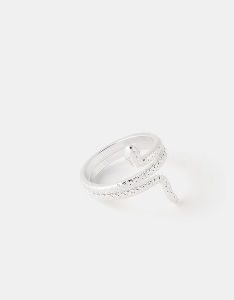 Snake Ring Silver, Silver (SILVER), large