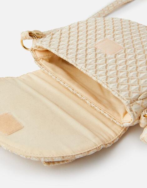 Jacquard Bow Cross-Body Bag, , large