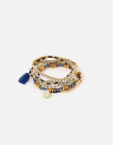Country Retreat Facet Bead Stretch Bracelets Set , , large