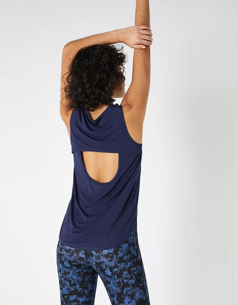 Cut-Out Vest Top Blue, Blue (NAVY), large