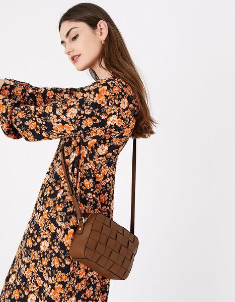 Hayley Weave Camera Bag Tan, Tan (TAN), large