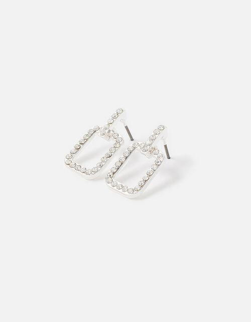 Midnight Sky Crystal Doorknocker Earrings, , large