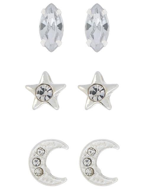 Crystal Celestial Stud Earring Set, , large