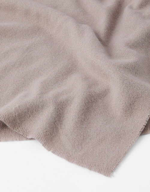 Wells Blanket Scarf Mink, , large
