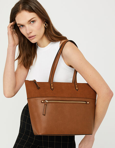 Molly Tote Bag Tan, Tan (TAN), large