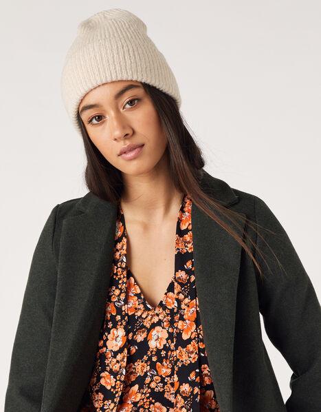 Soho Knit Beanie Hat Natural, Natural (NATURAL), large
