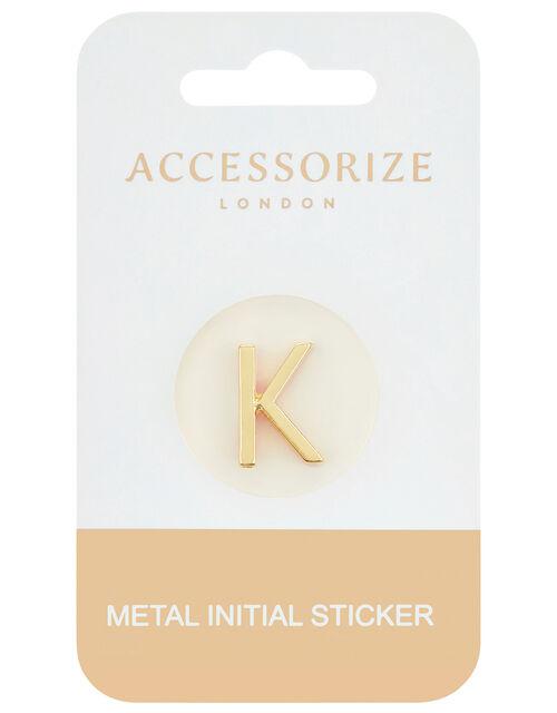 Metallic Initial Sticker - K, , large