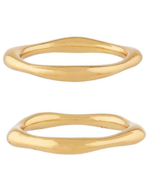 Gold-Plated Irregular Stacking Rings, Gold (GOLD), large