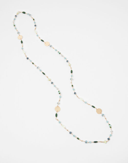 Extra Long Beaded Rope Necklace, , large