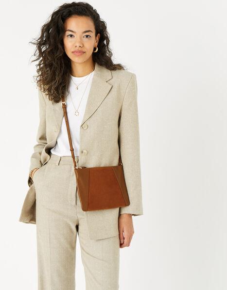Sophie Leather Cross Body Tan, Tan (TAN), large