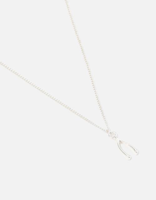 Wishbone Pendant Necklace, , large