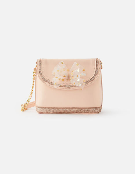 Bow and Glitter Cross-Body Bag, , large