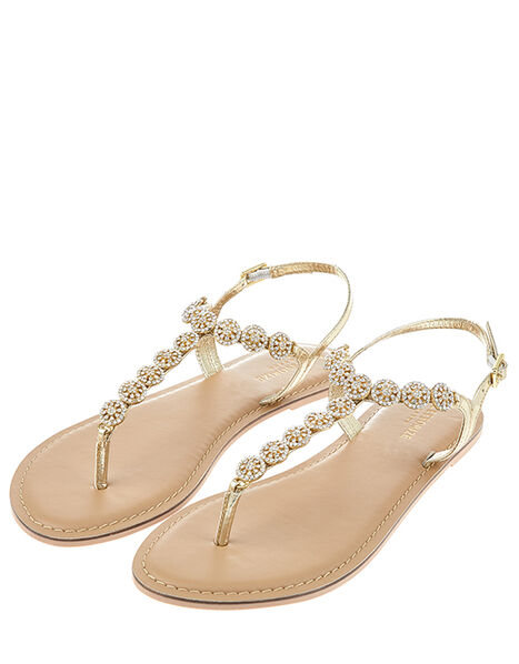 Rome Diamante Embellished Sandals White, White (CRYSTAL), large