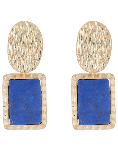 Lapis Statement Drop Earrings, , large