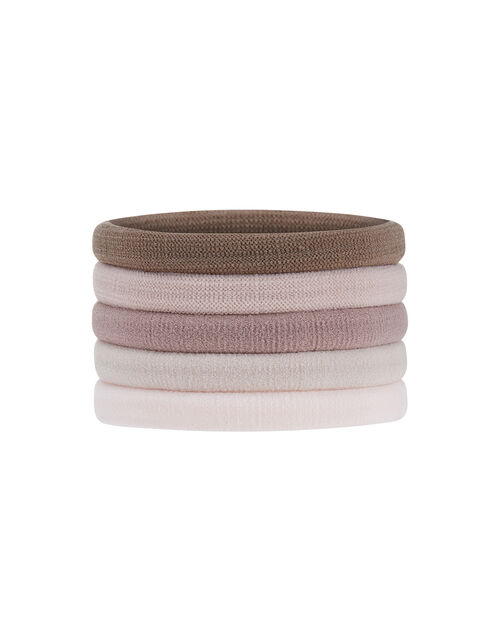 Thick Towelling Hair Band Multipack, Multi (PASTEL-MULTI), large