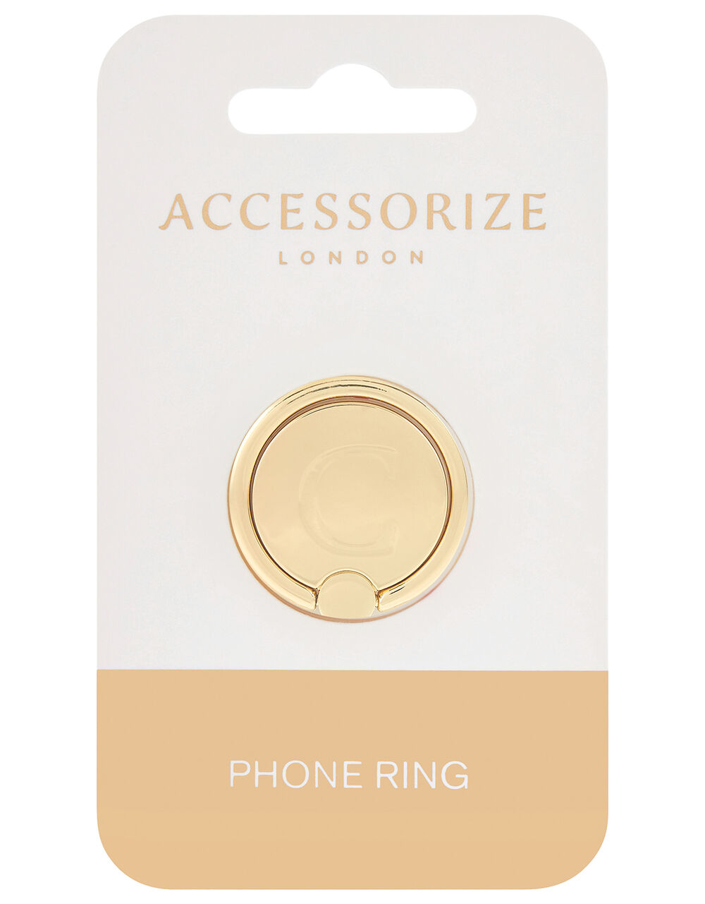 Metallic Initial Phone Ring - C, , large