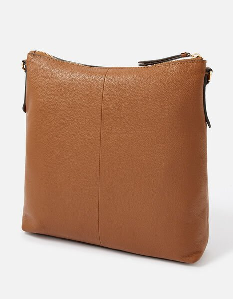 Large Leather Cross-Body Bag, , large