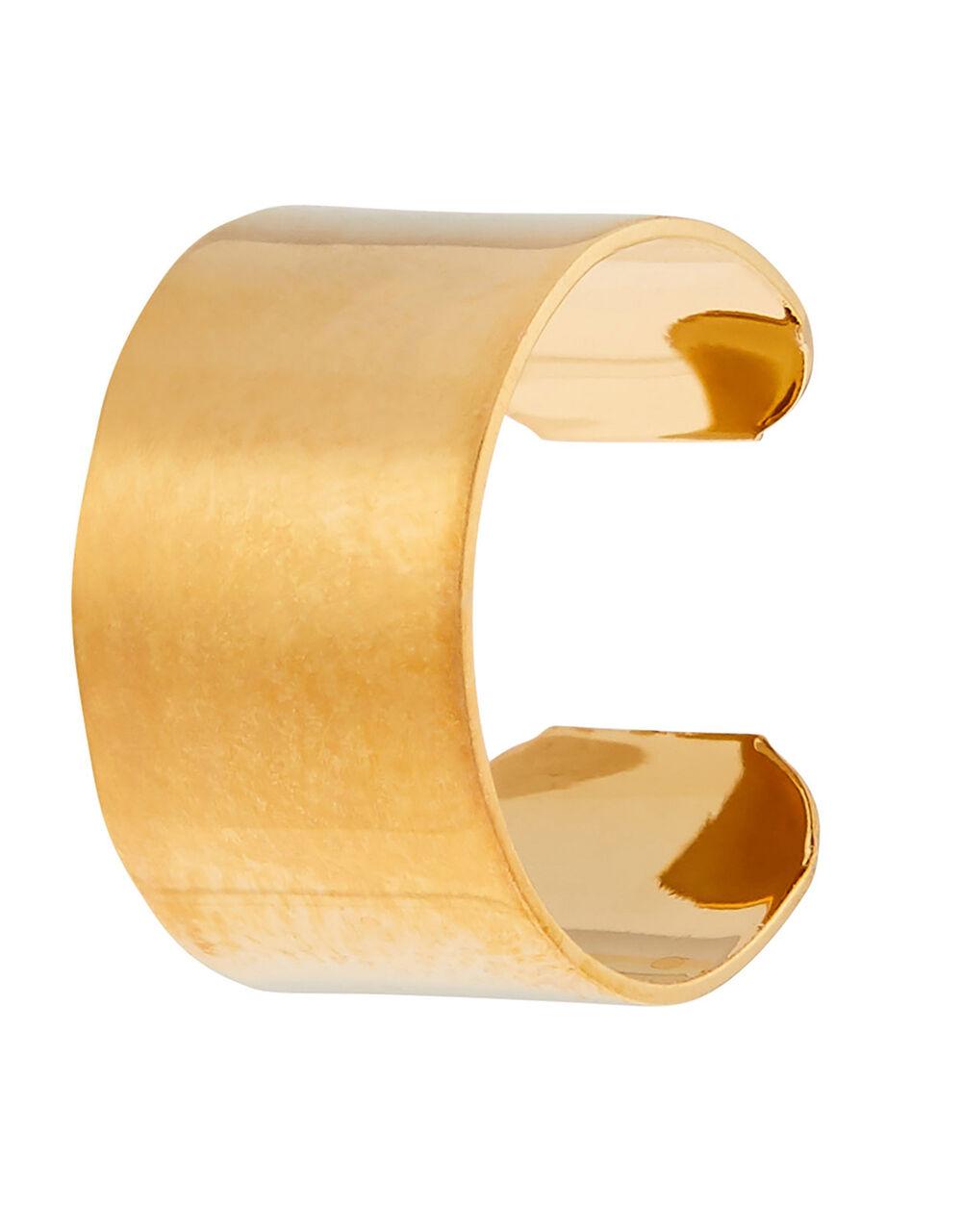 Gold-Plated Plain Ear Cuff, , large