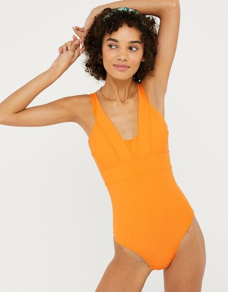 Lexi Plunge Shaping Swimsuit Orange, Orange (ORANGE), large