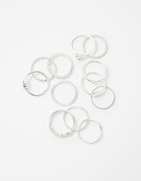 Simple Ring Multipack Silver, Silver (SILVER), large