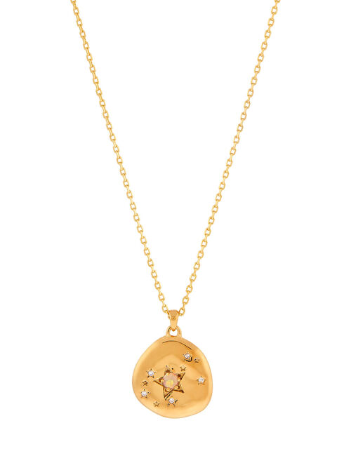 Gold-Plated Opal Zodiac Necklace - Scorpio, , large