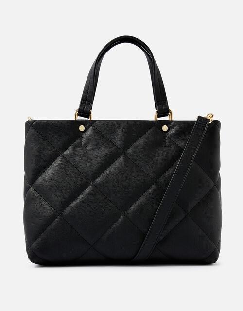 Kayleigh Quilted Handheld Bag , Black (BLACK), large