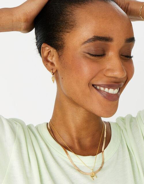 Gold Vermeil Initial Pendant Necklace - M, , large