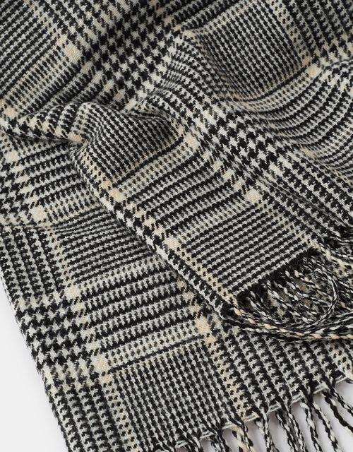 Bowey Check Blanket Scarf, , large