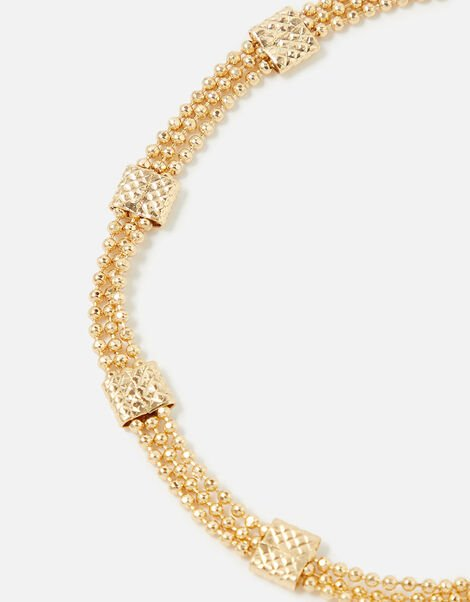 Berry Blush Beaded Chain Bracelet , , large