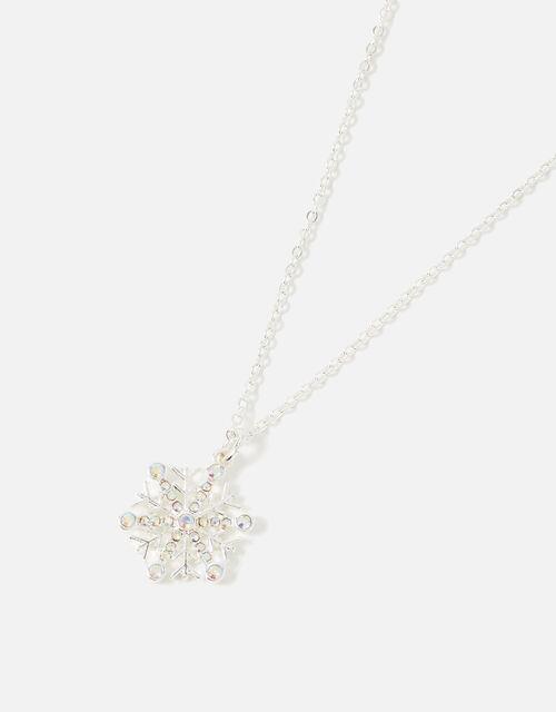 Snowflake Pendant Necklace, , large