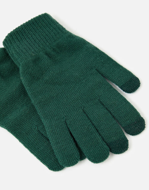 Stretch Touchscreen Gloves, Green (GREEN), large