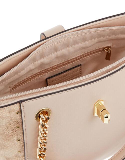 Katie Handheld Animal-Print Bucket Bag, Pink (PINK), large