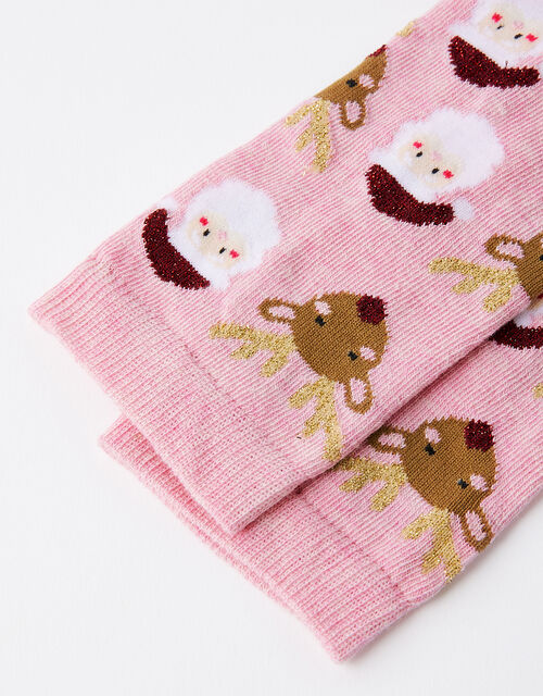 Santa and Rudolph Christmas Socks, , large