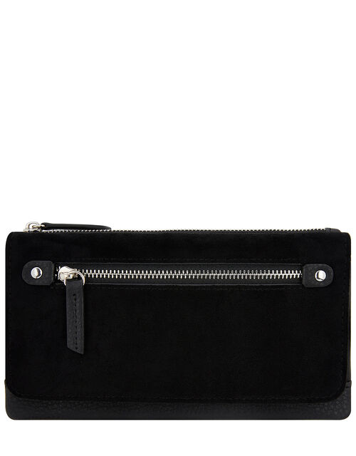 Appleton Suedette Wallet, Black (BLACK), large