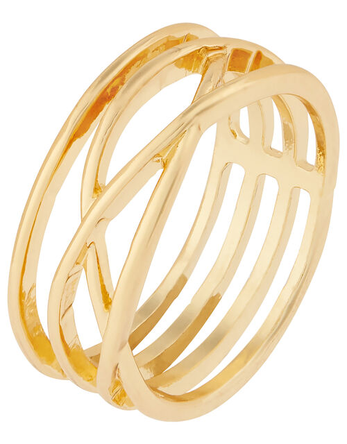 Lattice Ring, Gold (GOLD), large