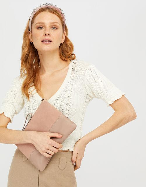 Carmela Leather Cross Body Bag, Pink (PINK), large