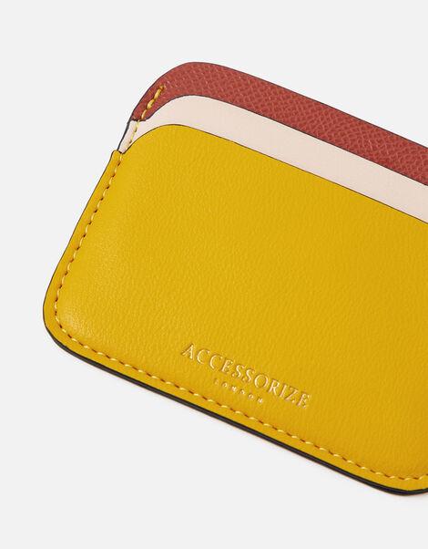 Colourblock Cardholder Yellow, Yellow (OCHRE), large