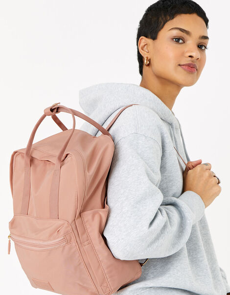 Frida Canvas Backpack  Pink, Pink (PINK), large