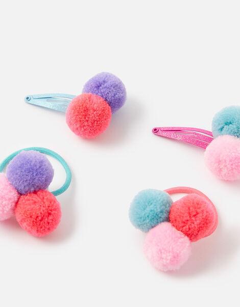 Pom-Pom Hair Accessory Set, , large