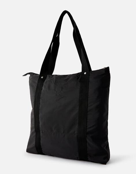 Packable Shopper Bag Black, Black (BLACK), large