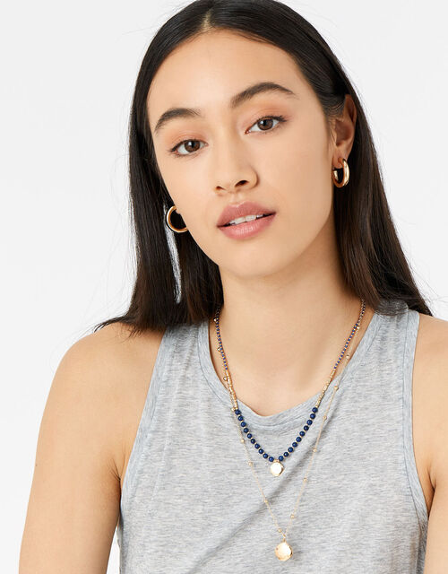 St Ives Beaded Multirow Necklace, , large